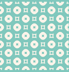 seamless pattern with circles and squares green vector image