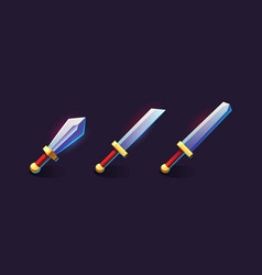 Set icons for games vector