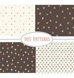 Set of seamless cute retro patterns vector