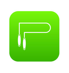 skipping rope icon digital green vector image