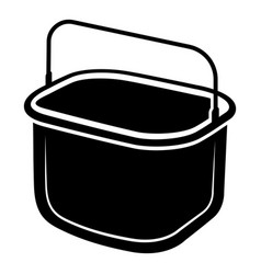 small bucket icon simple style vector image