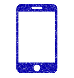 smartphone icon grunge watermark vector image