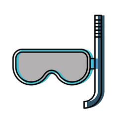 Snorkel mask icon vector