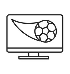 soccer game computer ball app league recreational vector image