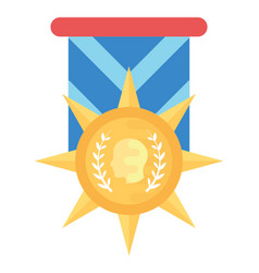 Star military medal vector