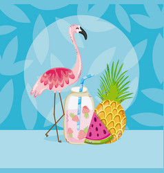 summer and birds vector image