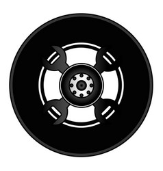 tire car isolated icon vector image