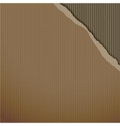 Torn corner paper cardboard vector