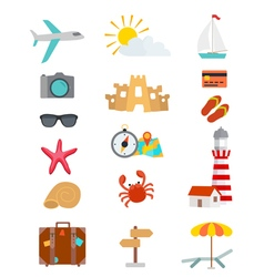 tourism objects vector image