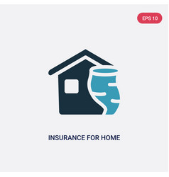 Two color insurance for home tornado icon from vector