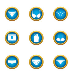 Underpants icons set flat style vector