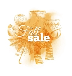 Vintage Fall sale vector