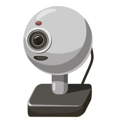 Webcam icon cartoon style vector