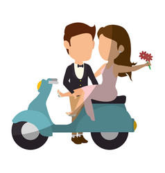 Wedding couple design vector
