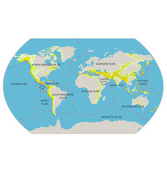 with geographical map tectoni vector image
