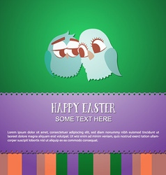 With spring and love birds vector