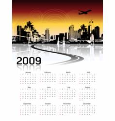 cityscape background calendar vector image vector image