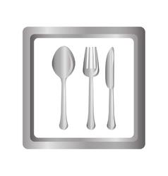 Gray picture cutlery icon design vector image