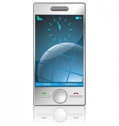 metallic mobile vector image