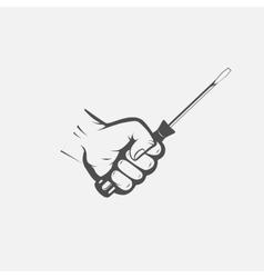 screwdriver in hand repair vector image
