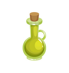 transparent glass jug with tapered bung filled vector image vector image