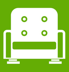 armchair icon green vector image vector image