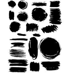 Blots Splash banners set Grunge texture vector image