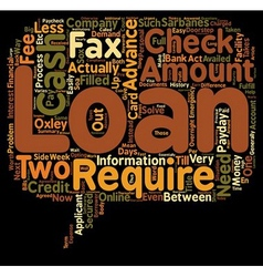 Cash advance loans are the fees worth it text vector