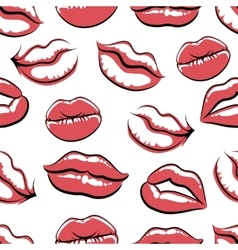 Pop art mouth on white background vector image