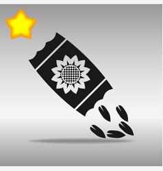 Seed black icon button logo symbol concept vector