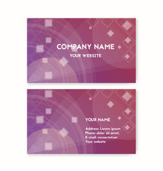 business card purple vector image vector image
