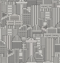 City seamless pattern background of buildings and vector image vector image