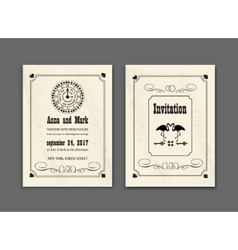 Wedding Party in Wonderland Save the date vector image vector image
