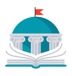 books library icon vector image vector image