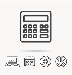 Calculator icon accounting sign vector