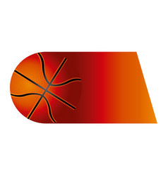 Colorful background of fast moving basketball ball vector