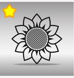 flower black icon button logo symbol concept vector image vector image