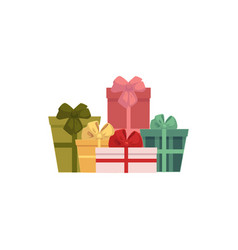 group pile of gift present boxes christmas icon vector image