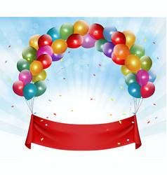 Happy birthday banner background vector image vector image