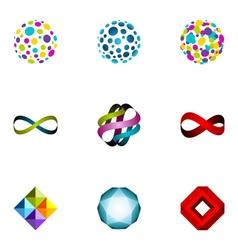 logo design elements set 25 vector image vector image