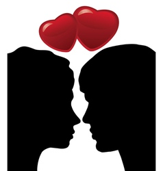 man and woman vector image