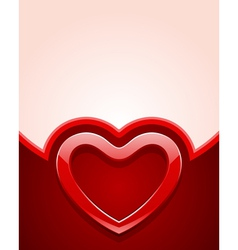red glass heart vector image