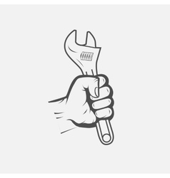 spanner in hand vector image vector image
