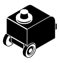 welding machine icon simple black style vector image