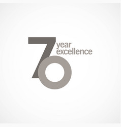 70 year anniversary excellence template design vector