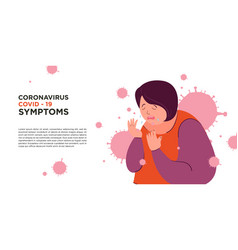 A woman got symptom corona virus covid19 -19 vector