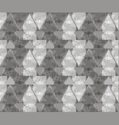 abstract ornament from gray triangles and spirals vector image