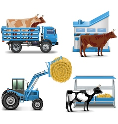 Agricultural Icons Set 3 vector image