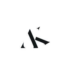 Ak initial logo design logo letter logo vector