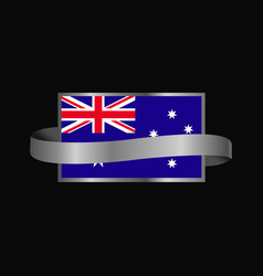 Australia flag ribbon banner design vector